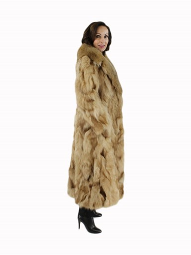 Red Fox Fur Sectioned Coat