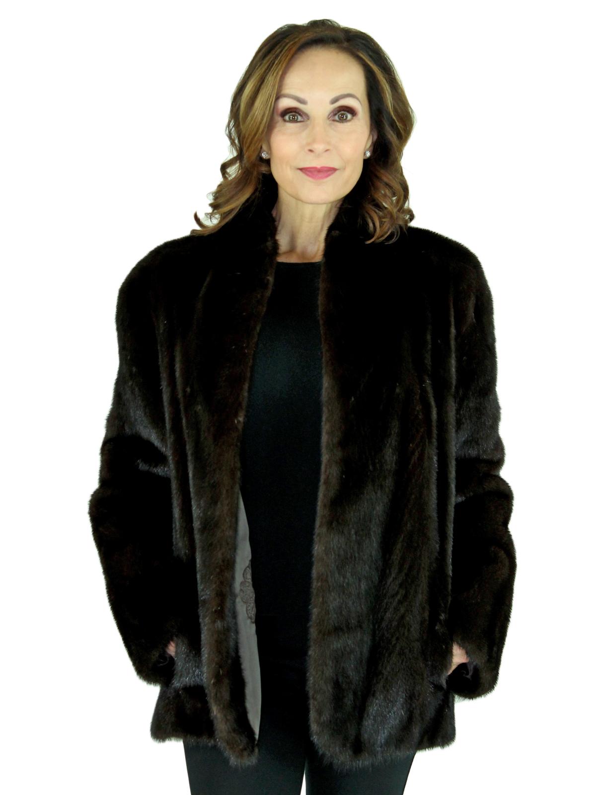 Woman's Deep Mahogany Mink Fur Jacket