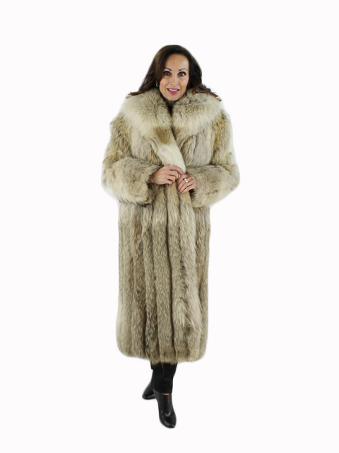 Woman's Natural Coyote Fur Coat