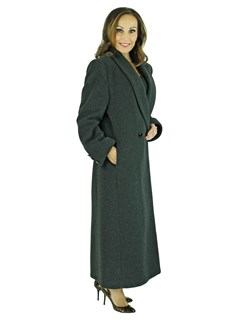 Woman's Black Loro Piana Cashmere Wool Coat