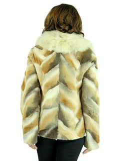 Woman's Sheared Coyote Fur Jacket with Traditional Coyote Collar