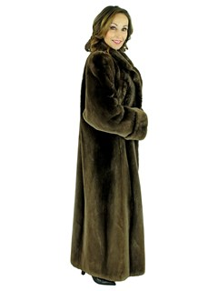 Woman's Phantom Sheared Beaver Fur Coat