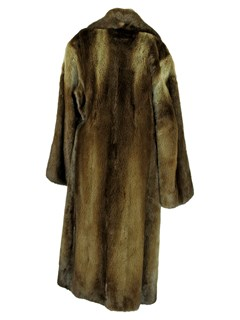Man's Double Breasted Otter Fur Coat