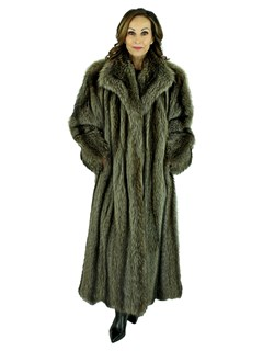 Woman's Natural Raccoon Fur Coat