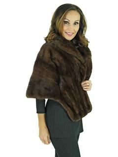 Woman's Dark Mahogany Mink Fur Stole