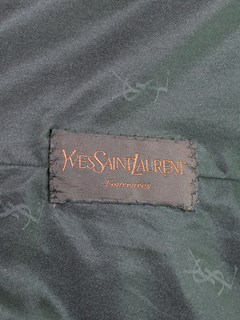 Woman's Yves St. Laurent Ranch Mink Fur Stroller with Fox Trim
