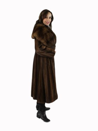 Lunaraine Mink Fur Coat w/ Sable Collar