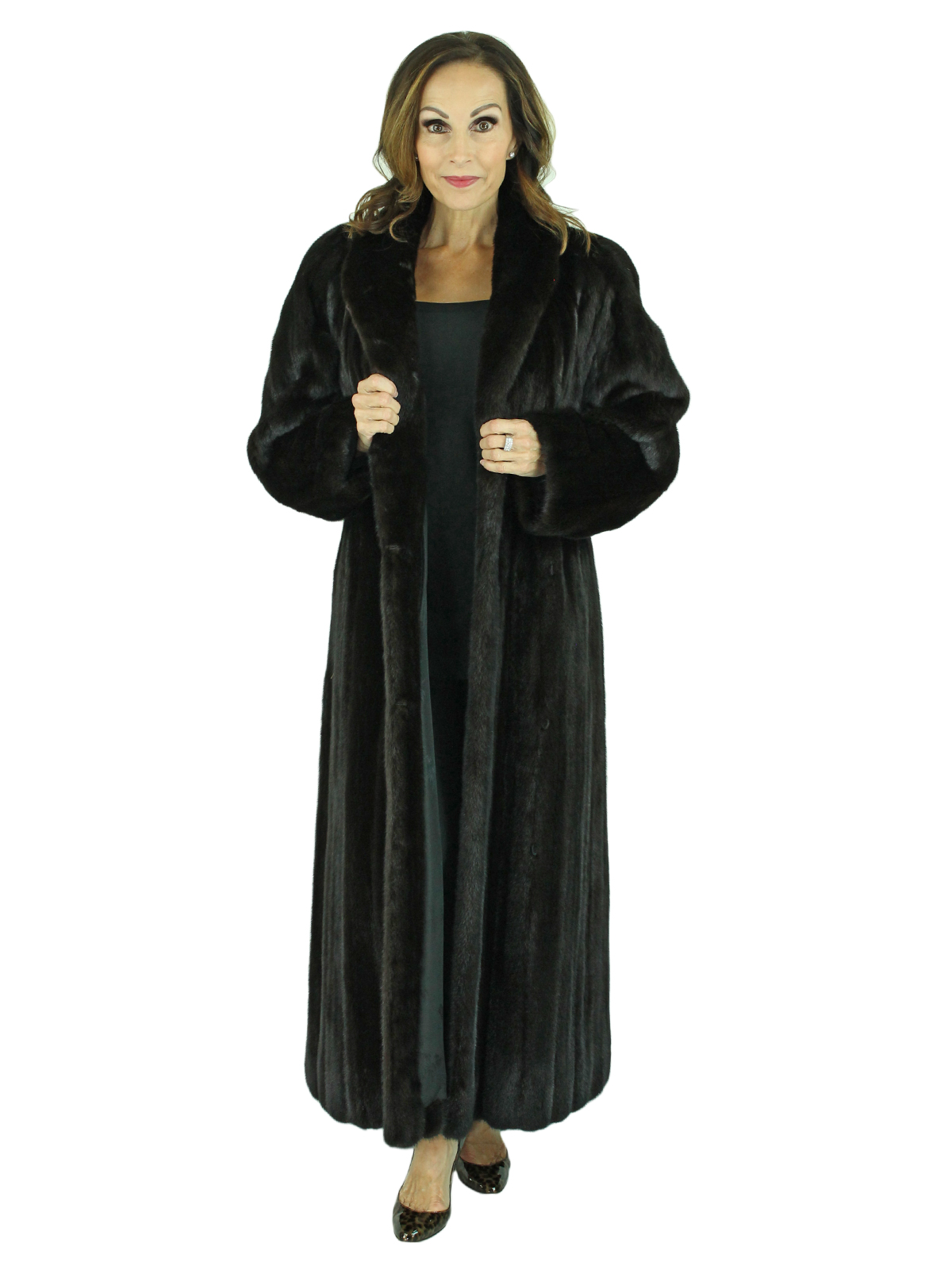 Woman's Ranch Female Mink Fur Coat