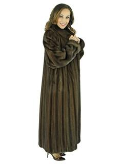 Woman's Female Mahogany Mink Fur Coat