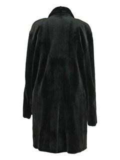 Man's Black Sheared Mink Fur 3/4 Coat