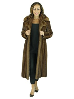Woman's Demi Buff Female Mink Fur 7/8 Coat