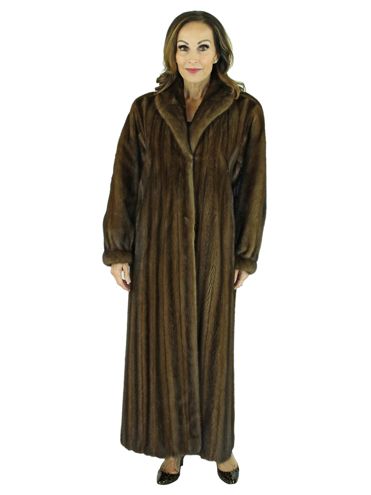 Woman's Demi Buff Female Mink Fur Coat