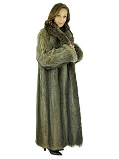 Woman's Natural Raccoon Fur Coat