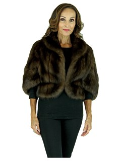 Woman's Natural Russian Sable Fur Bolero Jacket
