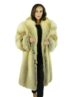 Woman's Golden Isle Fox Fur 3/4 Coat