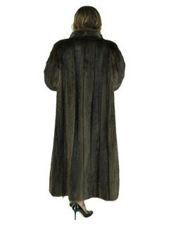 Woman's Dark Brown Beaver Fur Coat