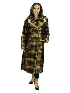 Woman's Natural Fitch Fur Coat