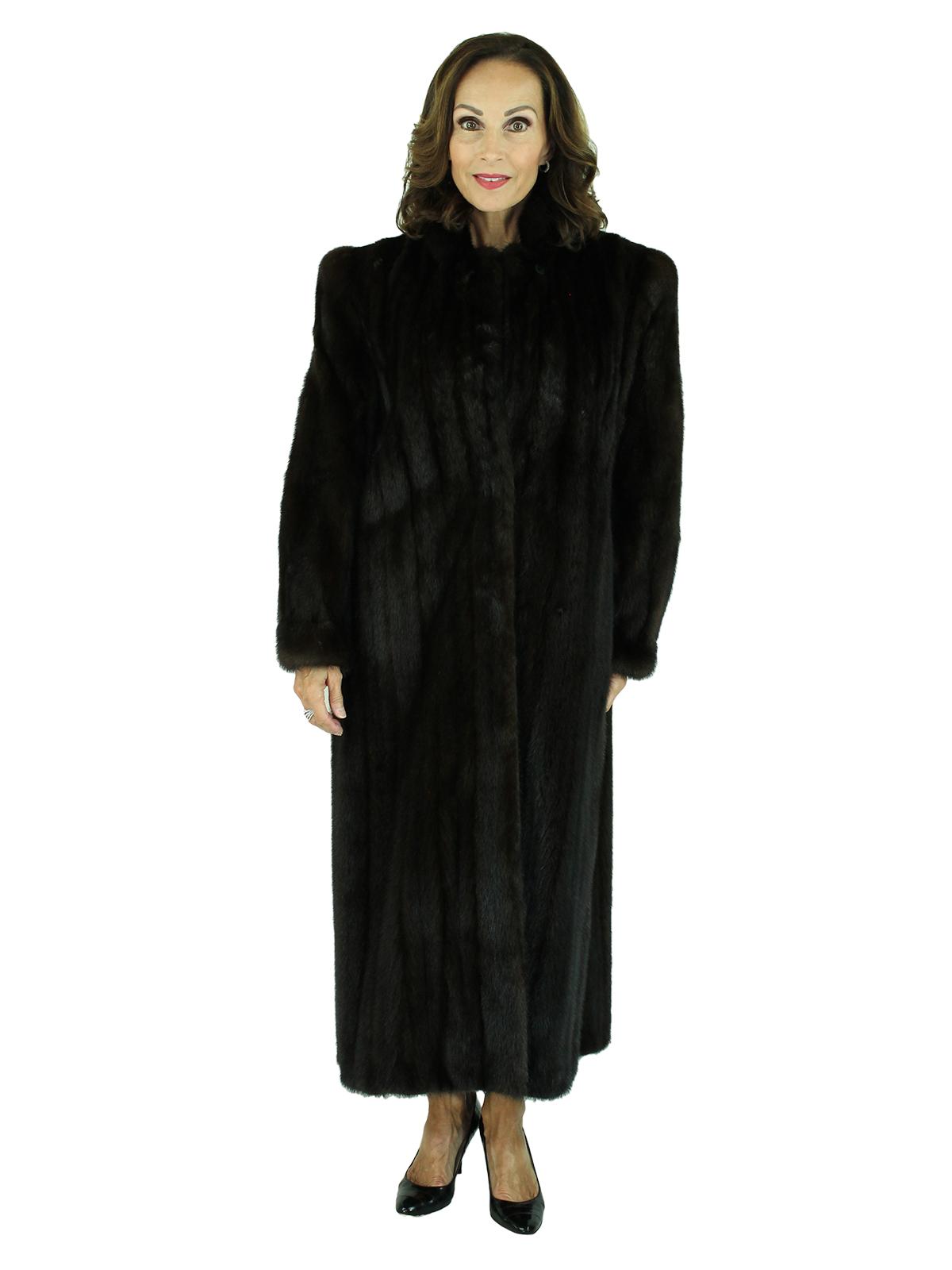 Woman's Vintage Deep Mahogany Female Mink Fur Coat