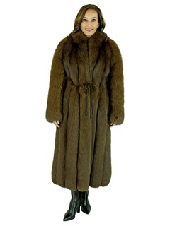 Woman's Brown Fox Fur Coat