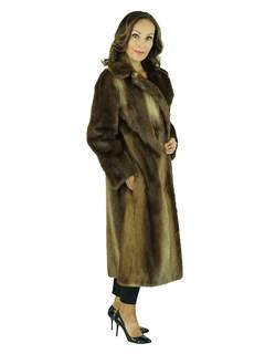Woman's Natural Otter Fur Coat