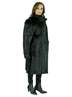 Woman' Black Beaver Fur Stroller