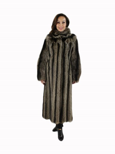 Natural Raccoon Fur Coat