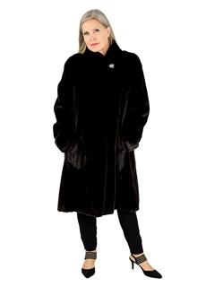 Woman's Blackglama Female Mink Fur 7/8 Coat
