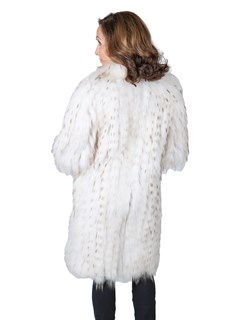 Woman's Beige Finn Raccoon Fur Stroller / Reversible