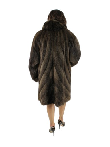 Long Hair Beaver Fur Stroller w/ Directional Body