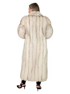 Woman's Natural Blue Fox Fur Coat