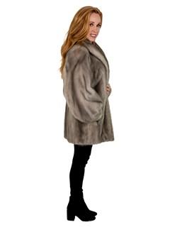 Woman's Cerulean Mink Fur Jacket