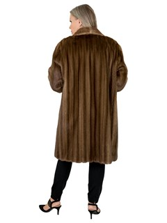 Woman's Lunaraine Female Mink Fur 3/4 Coat
