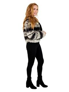 Woman's Petite Natural Chinchilla Fur Jacket