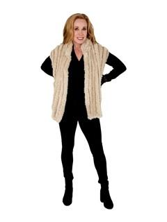 Woman's Tourmaline Knit Mink Fur Vest