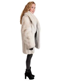 Woman's Natural Blue Fox Fur Stroller