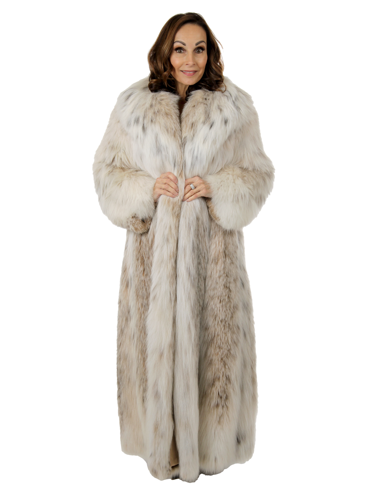 Woman's Natural Russian Lynx Fur Coat