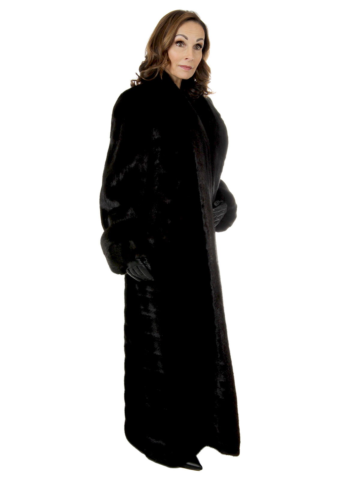 Woman's Oscar De LA Renta Ranch Female Mink Coat