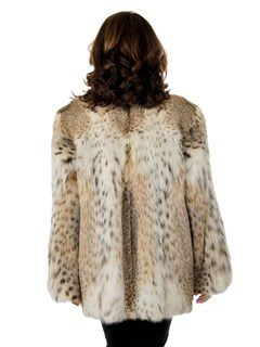 Woman's Natural Cat Lynx Fur Jacket