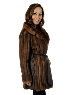 Woman's Vintage Lunaraine Mink Fur and Leather Jacket
