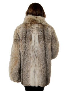Woman's Natural Canadian Lynx Fur Jacket