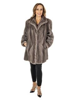 Women's Cerulean Mink Fur Stroller