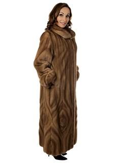 Woman's Pastel Female Mink Fur Coat