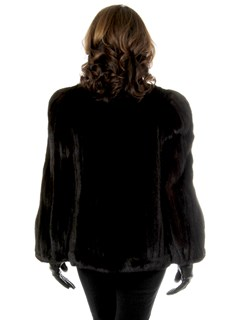 Woman's Ranch Cord Cut Mink Fur Jacket