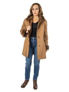 Woman's Reversible Demi Buff Mink Fur Jacket