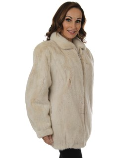 Woman's Blush Mink Fur Jacket