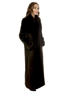 Woman's Brown Sheared Mink Fur Coat