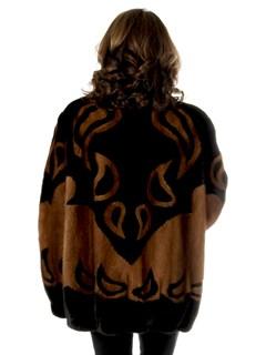 Woman's Mary McFadden Ranch and Mahogany Mink Fur Jacket