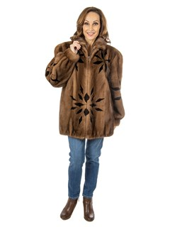Women's Lunaraine Mink Fur Jacket with Ranch Mink Inserts