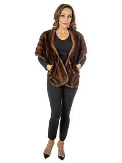 Women's Vintage Mahogany Mink Fur Stole