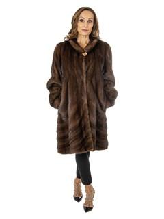 Women's Mahogany Female Directional Mink Fur Stroller